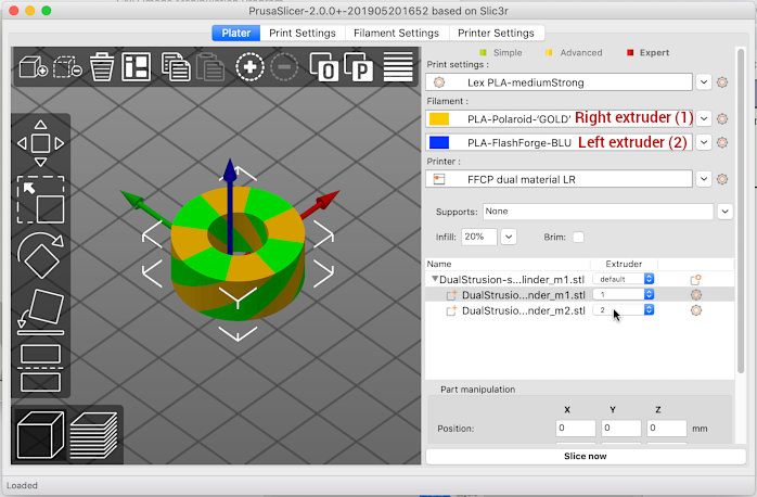Near) Perfect Dualstrusions with the FlashForge Creator Pro and